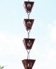 Picture of U-nitt pure Copper Rain Chain: slotted square cup 8 - 1/2 ft #3121AC