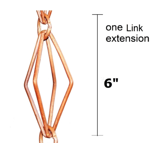 Picture of U-nitt Rain Chain Single Cup Extension #6002: one link extension
