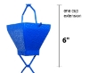 Picture of U-nitt Rain Chain Single Cup Extension #5517BLU: one cup with upper and lower links