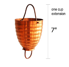 Picture of U-nitt Rain Chain Single Cup Extension #2980: one cup with upper and lower links