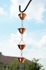 Picture of U-nitt #5513 Flared Bowl Pure Copper Rain Chain