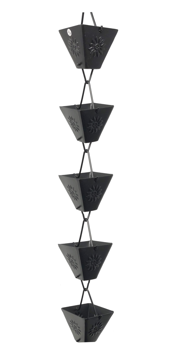 Picture of U-nitt Embossed Sunflower Rain Chain #5515BLK