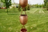 Picture of U-nitt Pure Copper Rain Chain: Rain Barrel Ribbed Cup 8 - 1/2 ft (Whole Chain) #5554