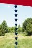 Picture of U-nitt Rain Chain Aluminum square blue 8 - 1/2 ft #5517BLU