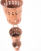 Picture of U-nitt Pure Copper Rain Chain: Cylinder Florence Cup 8 - 1/2 ft (Whole Chain) #5559