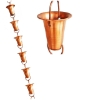 Picture of U-nitt pure Copper Rain Chain: bell cup 8 - 1/2 ft #7227